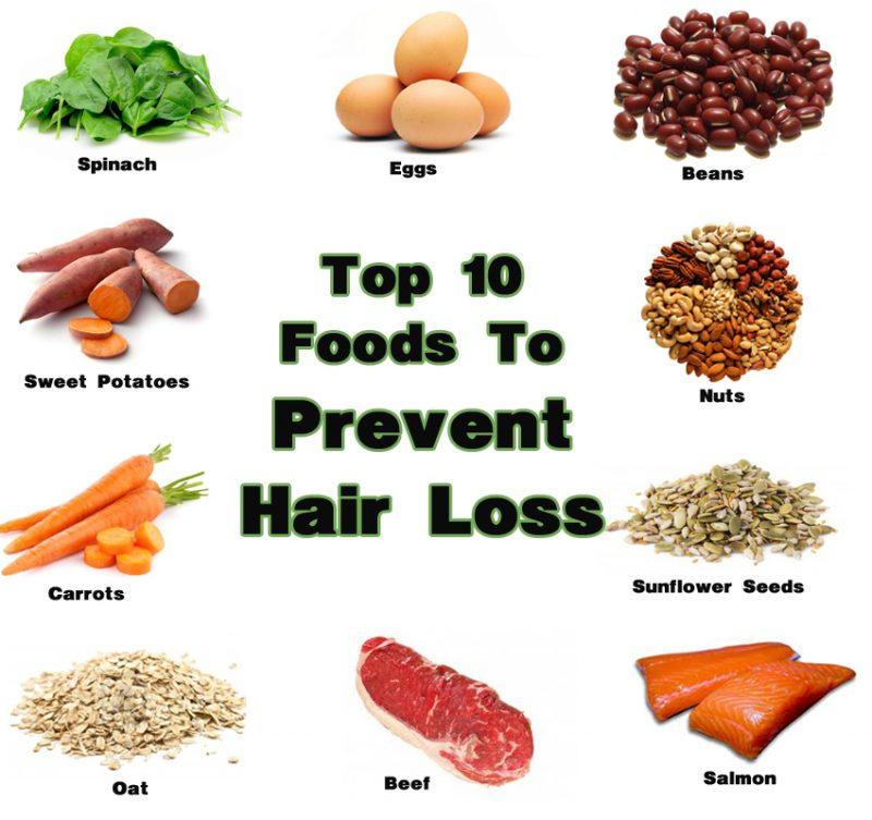 Top 10 Foods To Prevent Hair Loss 1 800x753 - 10 روش و نکات موثر برای کنترل ریزش مو از دکتر نوروزیان